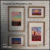 Zinnias Southwestern Art Shadowbox Grouping