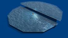 !building+ 0.7LI water illusion hexahedron mesh egg+