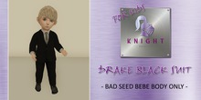 [KNIGHT DESIGNS] DRAKE BLACK SUIT  - BEBE