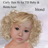!!! AFA Hair TD Bento Hair Curly blond (BOX)