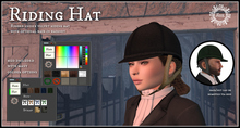 Jinx : Riding Hat with Hair (unisex)