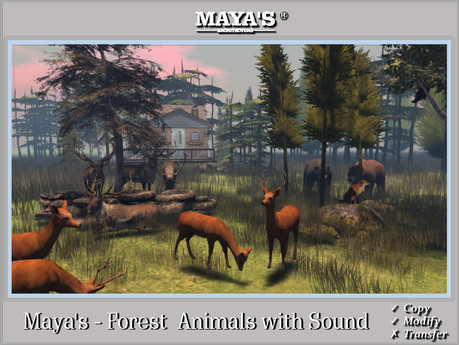 Maya's - Forest  Animals with Sound [ Reindeer, Fox, Wolf, Owl,Deer, Bear etc. ]