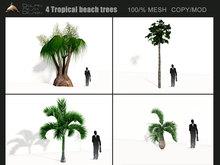 [Dolphin-Design]- 4 Tropical beach trees