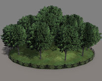 """1 prim full perm """"Tree17 Group of 24 Trees"""" sculpt maps, any texture"""