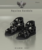 [The Forge] Aquilas Sandals, Black for Gianni Body Only (MALE)