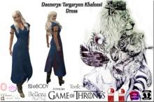*CL*HUD*WEAR & UNPACK* Daenerys Targaryen Khaleesi Cyan V2
