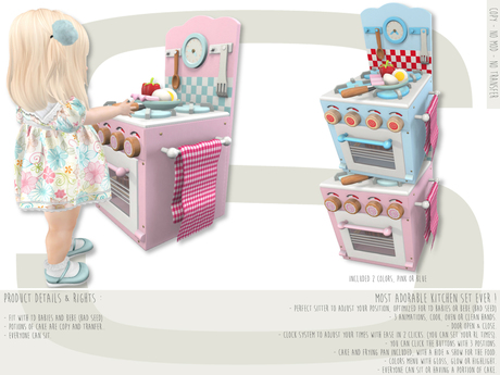Sweet Baby - Honey Kitchen Set - Blue & Pink