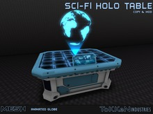 **To(kk)en Industries** Sci-Fi Holo Table - Mesh