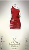 [sYs] LOTUS dress (body mesh) - red GIFT <3