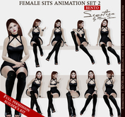 SEmotion Female Sits Set 2 - 10 HQ BENTO Animations BUILDER's KIT / Full permission