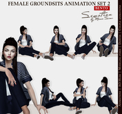SEmotion Female GroundSits Set 2 - 10 HQ Bento Sitting & Lying Animations