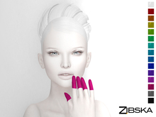 Zibska ~ Tips Finger TIp Tattoos in 15 colors with Maitreya, Belleza and Omega appliers