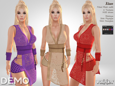 Second Life Marketplace Vaxer Xiao Outfit Demo