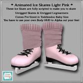 *CC* Toddlleedoo Animated Ice Skates Baby Pink
