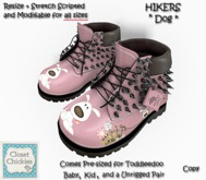 *CC* Toddleedoo PINK DOG *Studded Hikers*