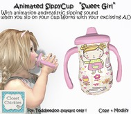 *CC* Toddleedoo Animated SippyCup *Sweet Girl*