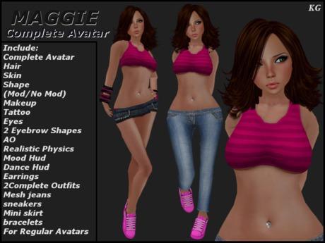 KG Maggie Complete Female Avatar Teen Girl GIFT!!