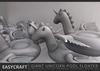 Easycraft giant unicorn pool floater shadow