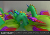 Easycraft giant unicorn pool floater colorguide