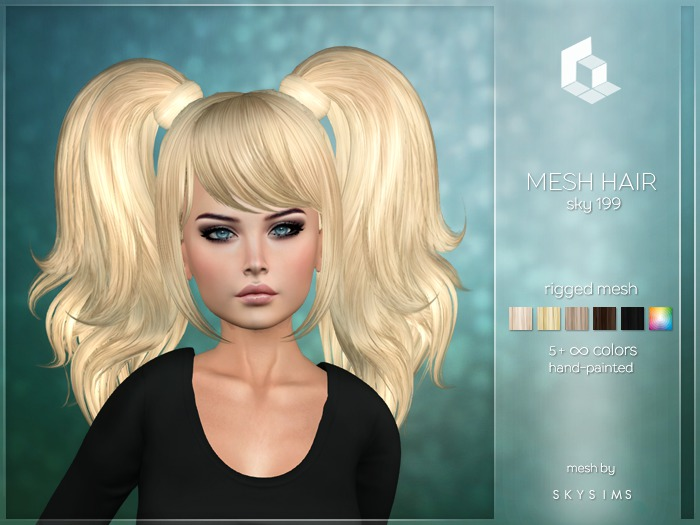 rezology Sky 199 (Bento RIGGED mesh hair) SK - 602 complexity