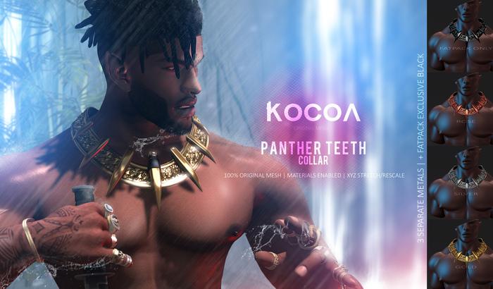KOCOA // Panther Teeth Collar [FATPACK]
