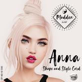 { M a d d o x } Anna Shapes & Style Card