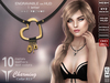 **RE** Charming Collar RLV * Engravable *MESH* (**Raven** Collection)
