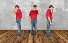 Dummy 18 - Men Red Shirt / 3LI