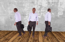 Dummy 21 - Man walking w bag / 3 LI