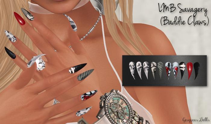 ~GD~LMB Savagery(Baddie Claws) - Belleza Bento Hands