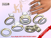 [SuXue Mesh] Didim Bento & Classic UnRigged Wedding Rings Bands Resize Marriage proposal pose Female & Male