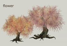 HPMD* Garden Tree04 - flower two colors