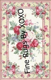 Cabbage Rose Rug by  XOXO
