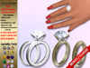 [SuXue Mesh] Aime Bento & Classic Unrigged Wedding Rings Bands Hud Resize Marriage Proposal Pose For Female