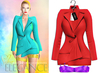 "Elegance Boutique -Jacket - Red -  ""Selen"" - Maitreya /Slink / Belleza"