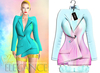"Elegance Boutique -Jacket - PinkBlue  -  ""Selen"" -"