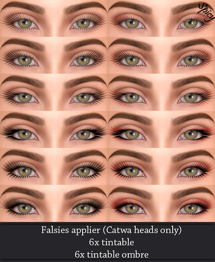*Spicy* Tintable Falsies (Catwa head Only)