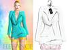 "Elegance Boutique -Jacket - LinedPink  -  ""Selen"" - Maitreya /Slink / Belleza"