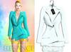 "Elegance Boutique -Jacket - LinedBlue -  ""Selen"" - Maitreya /Slink / Belleza"
