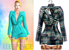 "Elegance Boutique -Jacket - DarkPlaid -  ""Selen"" - Maitreya /Slink / Belleza"