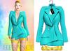 "Elegance Boutique -Jacket - Aqua -  ""Selen"" - Maitreya /Slink / Belleza"