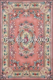 Chinese Needlepoint Carrpt Pink Mutlt-Color  by XOXO