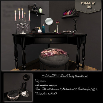 Limited offer !! Follow US !! The Dark Vanity table COPY version