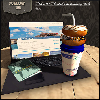 Limited offer !! Follow US !! Beautiful destinations laptop (black)