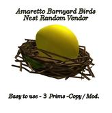 AMARETTO BARNYARD BIRD NEST RANDOM VENDOR