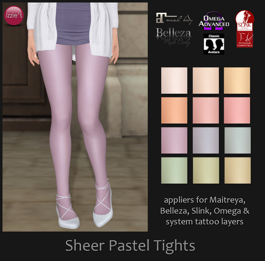 Izzie's - Sheer Pastel Tights