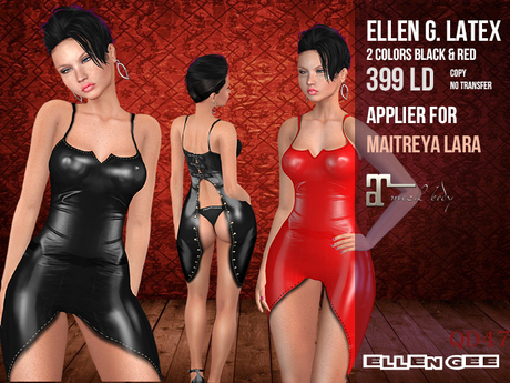 Second Life Marketplace Back Free Latex Applier Dress For Maitreya