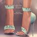 (AMD) Ruffles Heels - Aqua (wear to unpack)