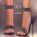 (AMD) Ruffles Heels - Black (wear to unpack)