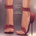 (AMD) Ruffles Heels - Red (wear to unpack)